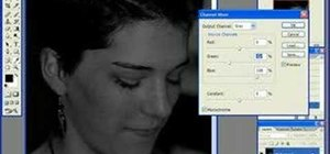 Convert a color image to black and white in Photoshop