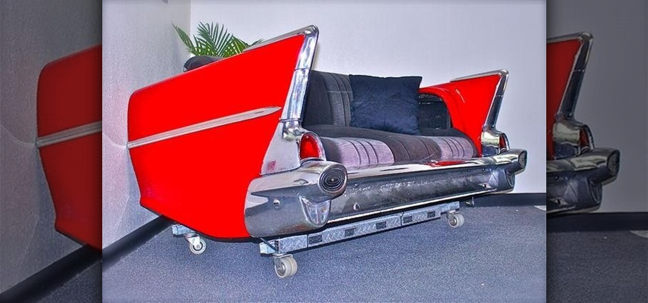 Turn Your '57 Chevy Classic (Or Any Old Car) into the Best Couch Ever