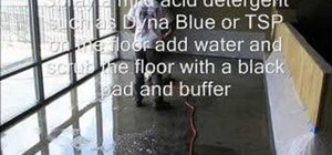 Save money by staining your own concrete floors