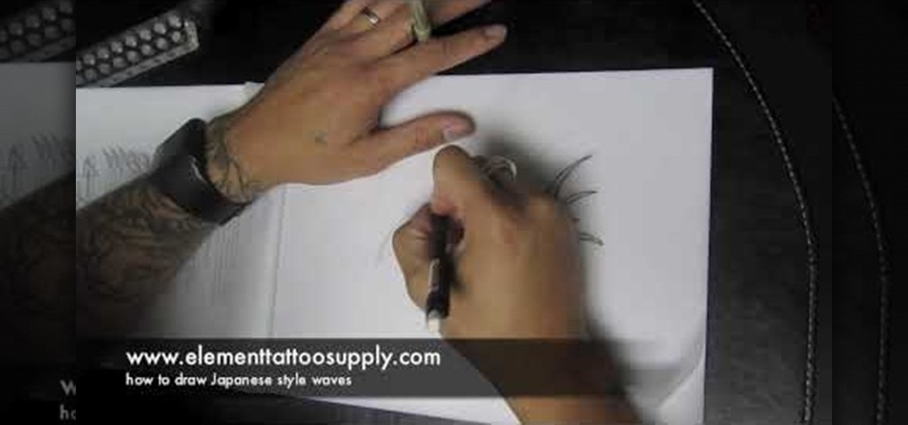 How To Draw Japanese Waves For A Tattoo 171 Tattoo
