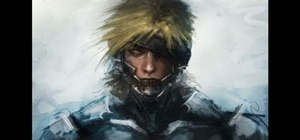 Create a digital painting of the Metal Gear Solid character Raiden