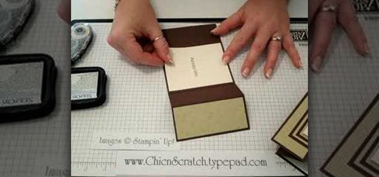 How To Make A TriFold Card  Papercraft  Wonderhowto