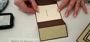 Make a tri-fold card out of paper