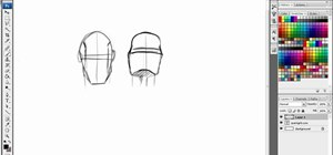 Draw heads and faces from different angles digitally