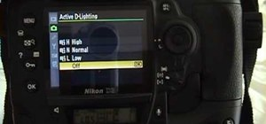 Use active D-lighting on a digital SLR camera