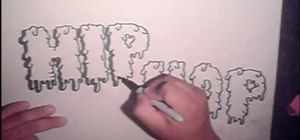 Draw cool graffiti letters, step-by-step