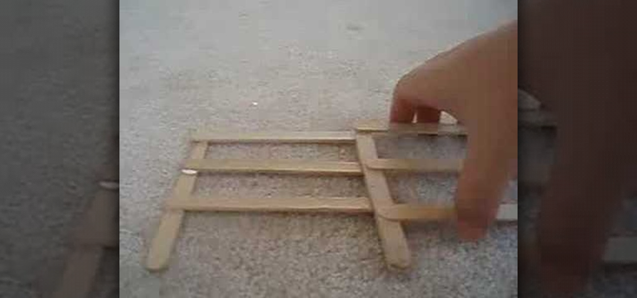 how to build a model bridge out of popsicle sticks