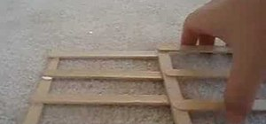 Make popsicle stick fences
