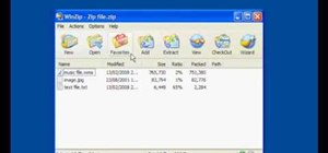 Unzip files using WinZip