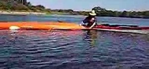Use the Bow Roll Rescue technique when kayaking