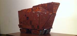 Amazing Star Wars Sand Crawler Made of LEGO