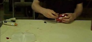 Make a dual-chamber pipe out of a soda can