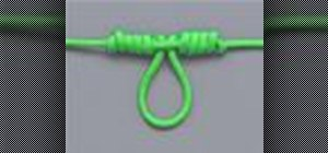 Tie the Dropper Loop knot with a knot tying animation