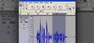 Zoom in or out on a waveform when editing audio in Audacity