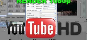 Render Sony Vegas clips in 1080p HD for use on YouTube