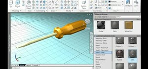 Use the AutoCad 2011 Materials Browser