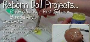 Make an ethnic reborn baby doll