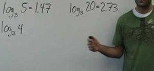 Work with logarithms in intermediate algebra