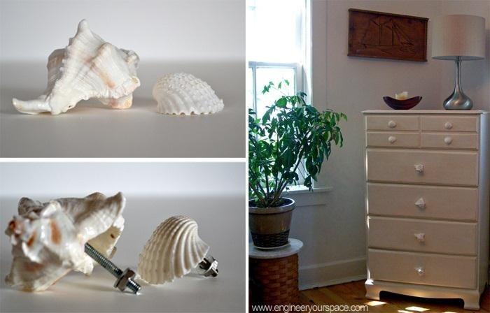 How to Make DIY Decorative Shell Dresser Knobs
