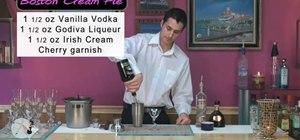 Make a Boston creme pie martini