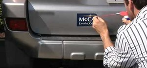 Remove a McCain bumper sticker with WD-40