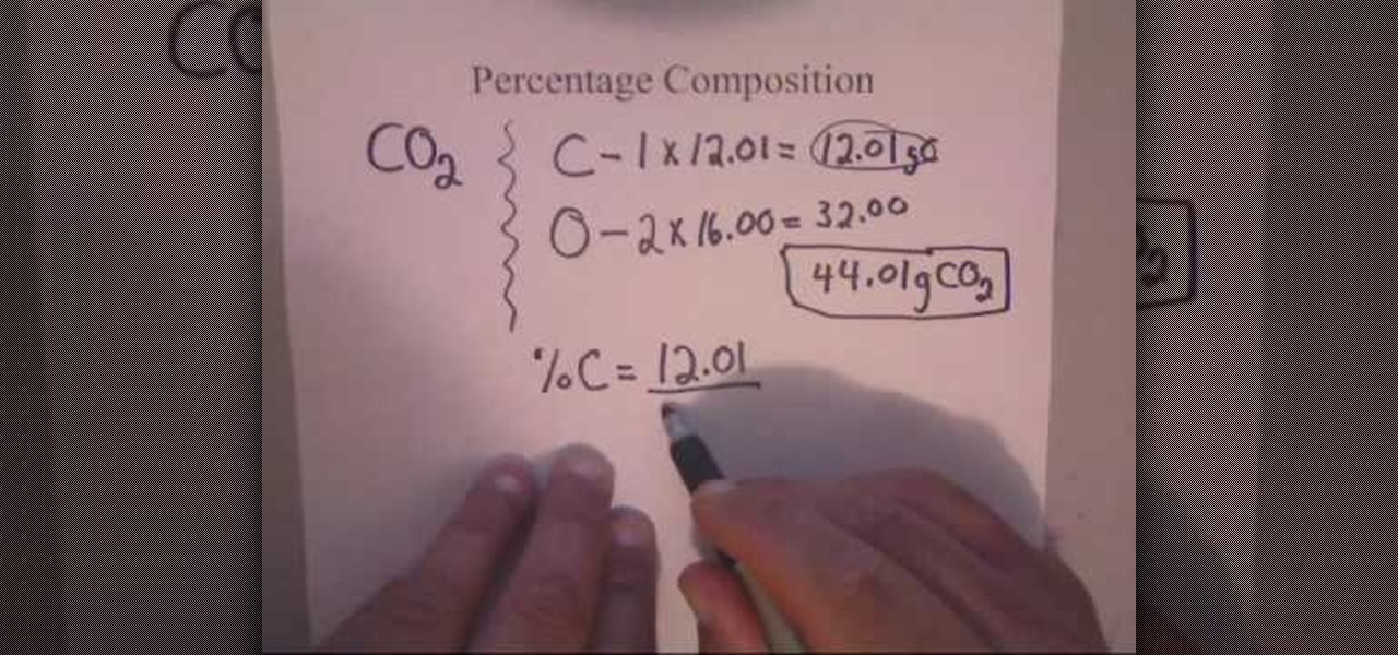 How to calculate percent composition for chemistry math how to calculate percent composition for chemistry math wonderhowto ccuart Image collections