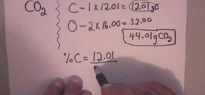 Calculate percent composition for chemistry