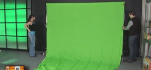 Properly set and light a green screen backdrop