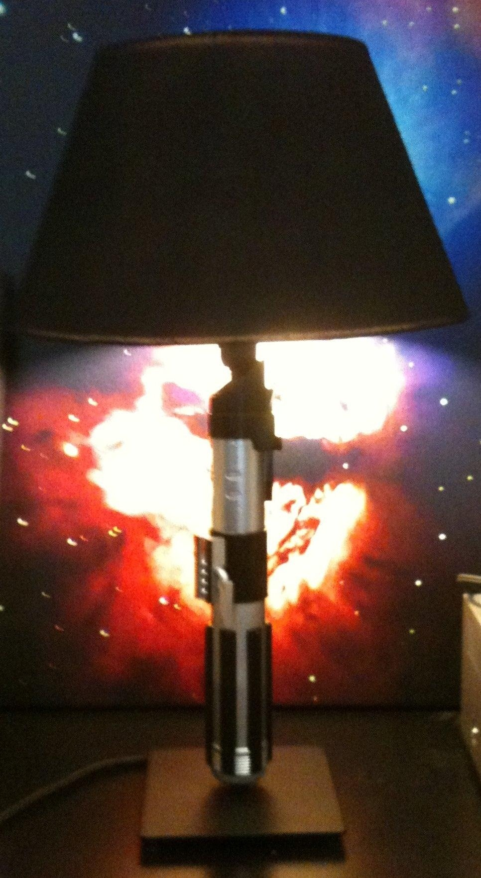 How to Make a DIY Lightsaber Lamp