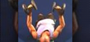 Do a decline bench press with dumbbells