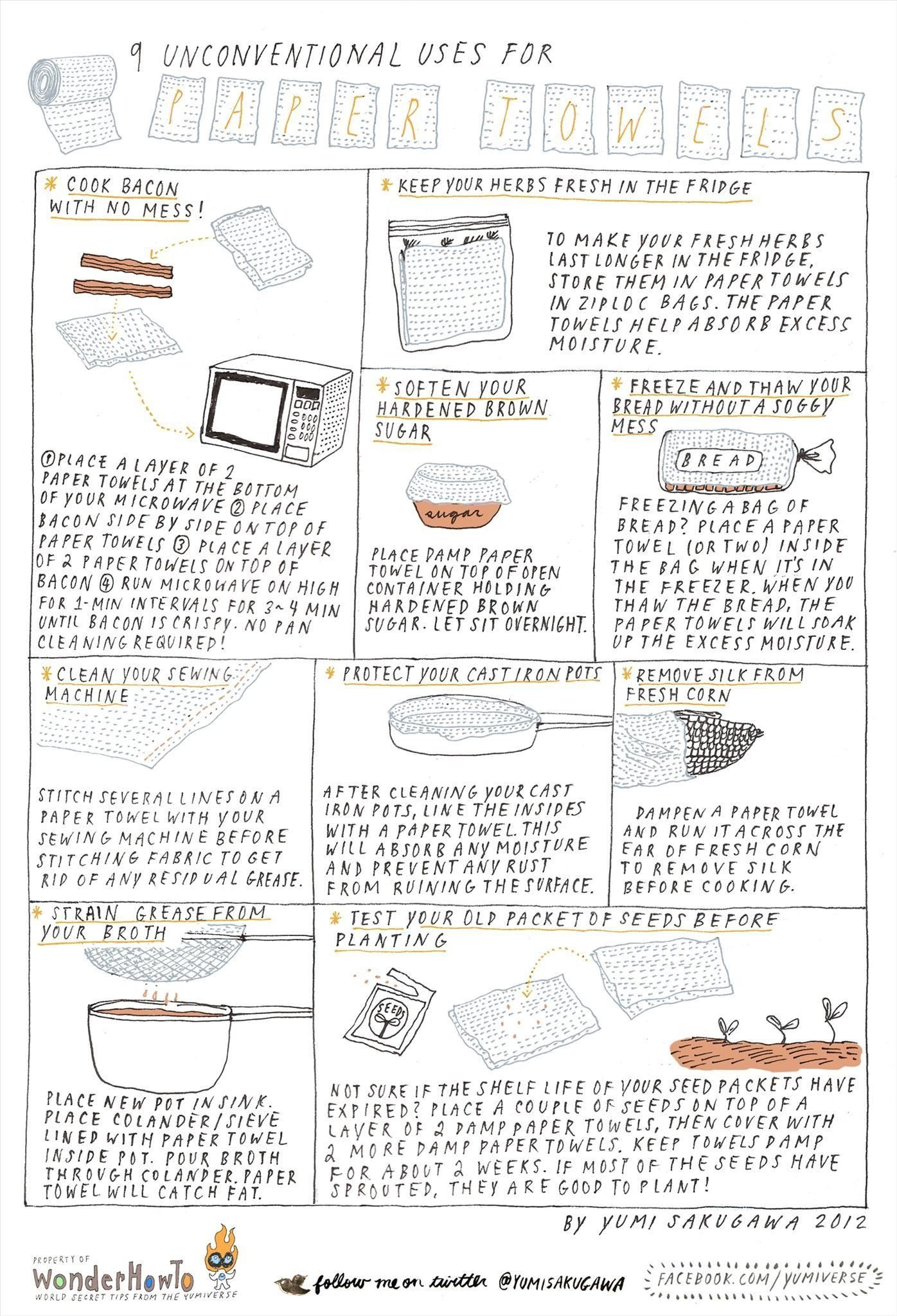 9 Unconventional Uses for Paper Towels