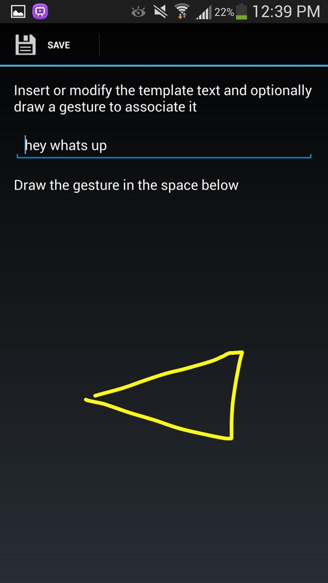 Samsung Galaxy S4 Text Message