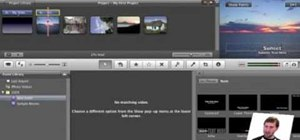 Customize slideshows with titles using iMovie