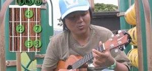 Perform a simple scale-based ukulele warm-up exercise