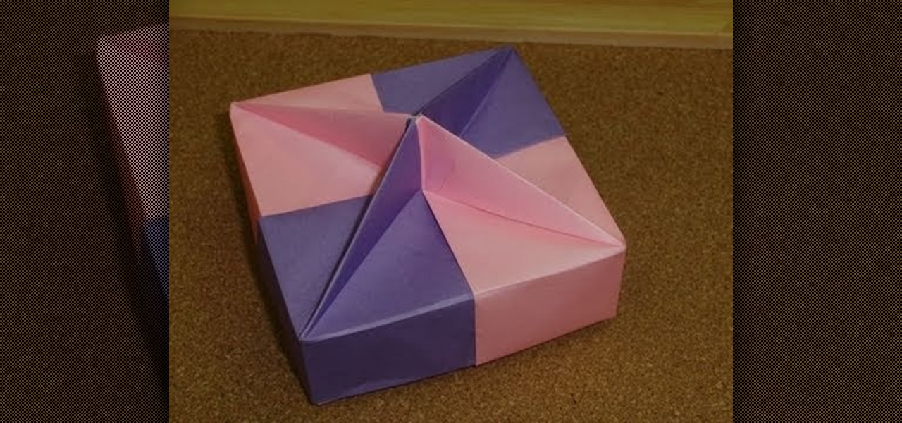 How to Fold a square gift box with floral ornament « Origami