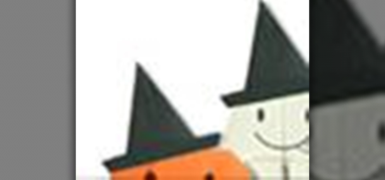 How to Origami a paper Halloween witch hat Japanese style