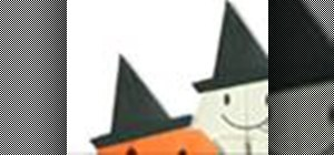 Origami a paper Halloween witch hat Japanese style