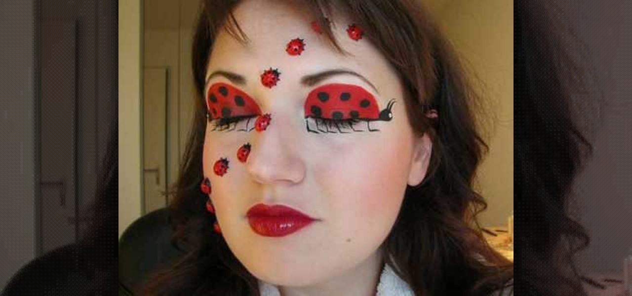Easy Ladybug Face Paint