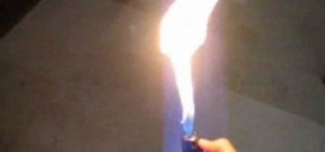 Hack a cigarette lighter for super flames