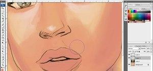 Paint great lips in Adobe Photoshop CS3