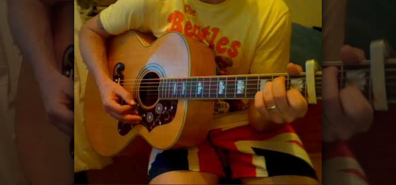 how to play julia by the beatles on acoustic guitar acoustic guitar wonderhowto. Black Bedroom Furniture Sets. Home Design Ideas