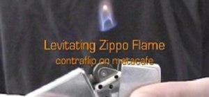 Levitate a Zippo flame