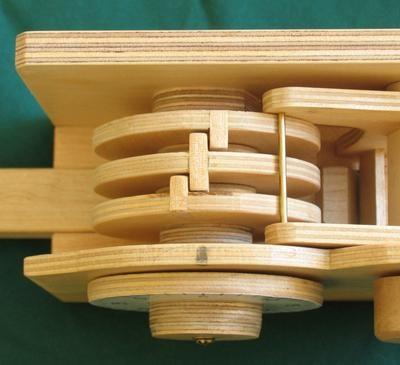 Wooden Combination Lock Demonstrates Inner Workings