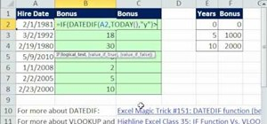 Calculate bonuses based on years worked in MS Excel