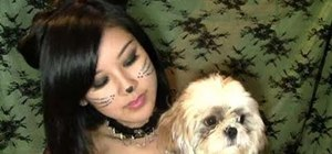Create an adorable kitty cat makeup look for Halloween