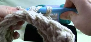 Execute the double crochet stitch when using extreme crochet