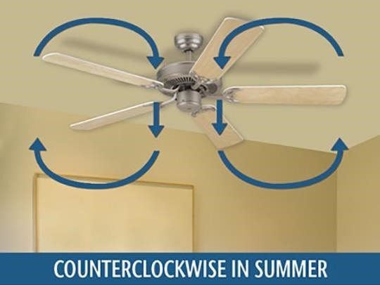 Ceiling fan not cooling it might be spinning backwards this straight smooth shape allows the blades to move easily through the air and the pitch sends a cooling breeze directly beneath the fan aloadofball Choice Image