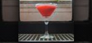 Make a Raspbery Lime Rickey Martini