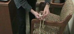 Tie a bowline knot