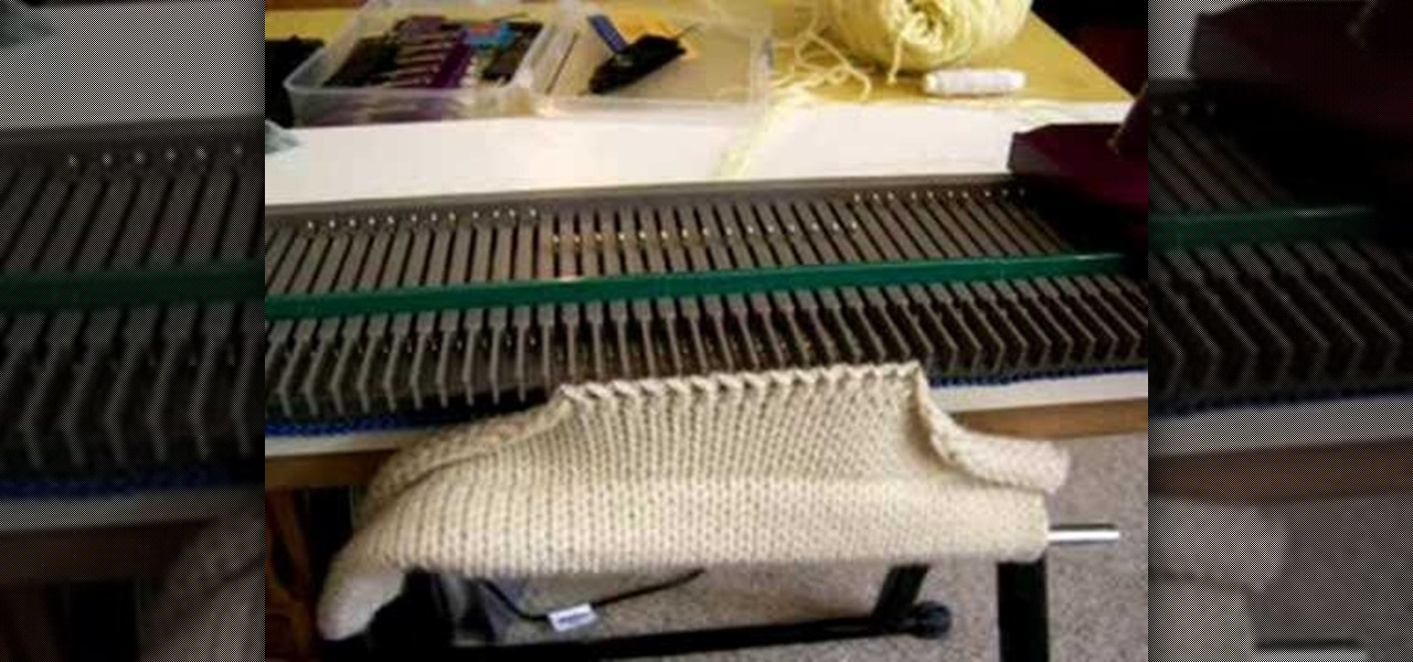 how to set up knitting machine